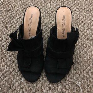Black slip on heels size 6.5